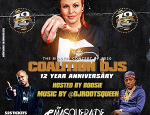 Dj Roots Queen Spinning @ Coalition Dj's 12 year Anniversary Concert Monday Night!