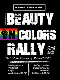 Happy Pride!! 'Beauty In Colors Rally' Sunday June 28th 4pm!!