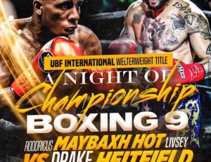 Maybaxh Hot AKA Hot Rod will be fighting for a UBF International Welterweight Title inATL